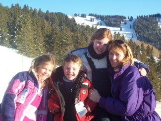 Vail Skiing Family