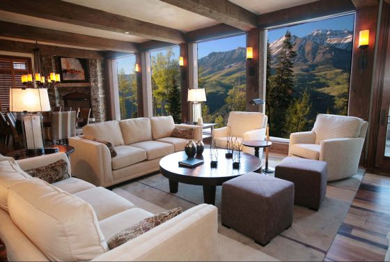 Equity Estates Telluride living room view