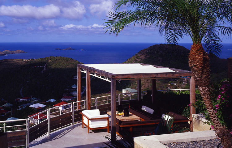 Solstice St Barth's deck