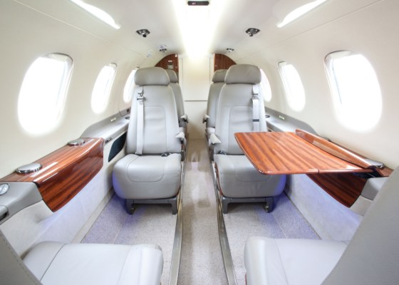 Flight Options Phenom 300 interior