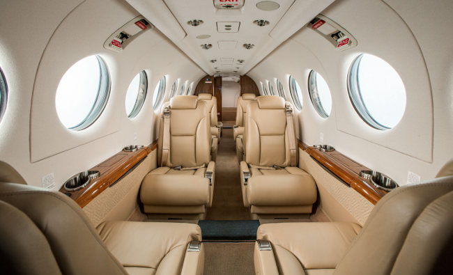 KingAir 350i cabin