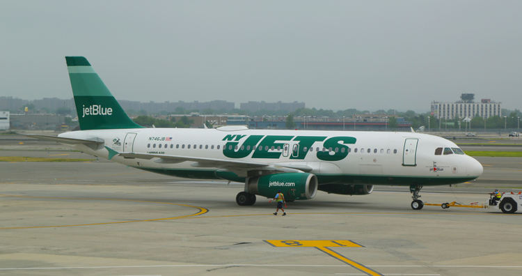 New York Jets plane