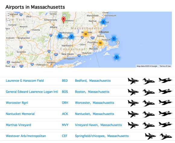New Searchable Directory Of All Us Airports - Map-us-airports