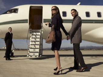 Couple Boarding Sentient Plane